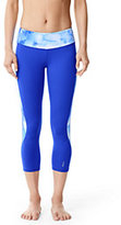 Lands' End Women's Studio Crop Pants-Electric Blue Colorblock