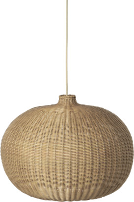 ferm LIVING Braided Lamp Belly - rattan