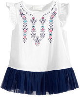First Impressions Graphic Tulle-Hem Cotton Tunic, Baby Girls (0-24 months), Only at Macy's