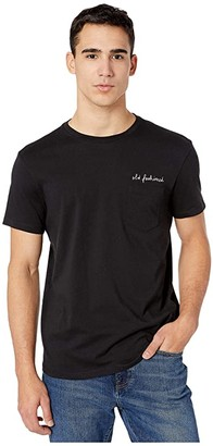 J.Crew Classic Old Fashioned Tee (Faded Black) Men's Clothing