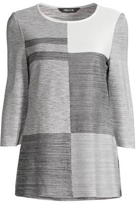 Misook Colorblock Knit Tunic