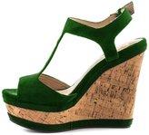 YDN Women Wedge Heels Platform Shoes Sandals High Peep Toe Strappy 8