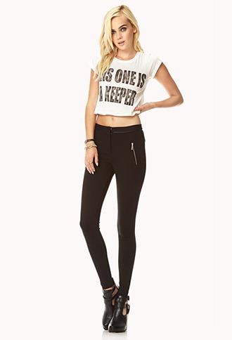 Forever 21 Daring Zippered Skinny Pants