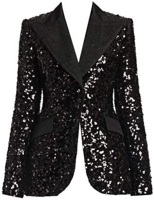Dolce & Gabbana Long-Sleeve Sequin Jacket