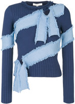Jonathan Simkhai ribbed bandage sweater - women - Polyester/Rayon - XS