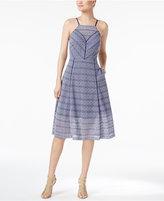Rachel Roy Illusion Lace Apron Dress