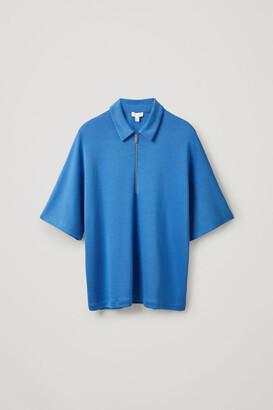Cos Lyocell Oversized Polo Shirt