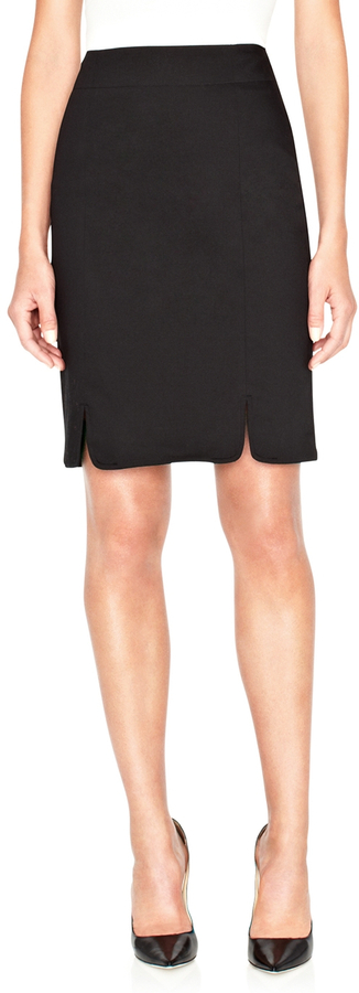The Limited Notched-Hem Pencil Skirt