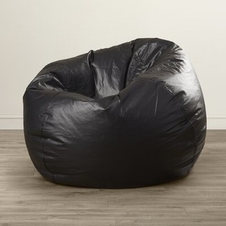 Grove Lane Standard Faux Leather Bean Bag Chair & Lounger Grovelane Color: Black