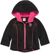 U.S. Polo Assn. Girls Midweight Fleece Jacket-Baby