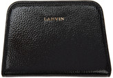Lanvin Black Compact Zip Wallet