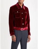 Bally Buckled velvet jacket