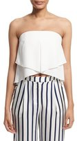 Nicholas Strapless Layered Bustier Top, Ivory