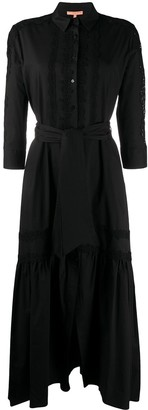 Ermanno Scervino Lace Panelled Shirt Dress