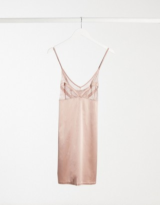 Gossard lact top slip with seaming in beige