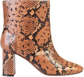 L'Autre Chose Snakeskin Print Ankle Boots