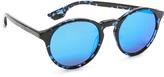 McQ by Alexander McQueen Alexander McQueen Round Mirrored Sunglasses