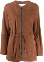 Fabiana Filippi bead-embellished collarless jacket