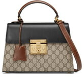 Gucci Small PadlockCanvas & Leather Top Handle Satchel