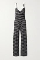 Thumbnail for your product : Norma Kamali Slip Striped Stretch-jersey Jumpsuit - Black