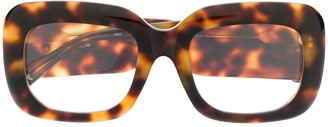 Linda Farrow Tortoise-Shell Square Glasses