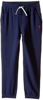 Polo Ralph Lauren Collection Fleece Pull-On Pants (Little Kids) (Cruise Navy) Boy's Casual Pants
