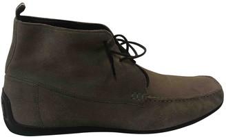 Bally Khaki Suede Boots
