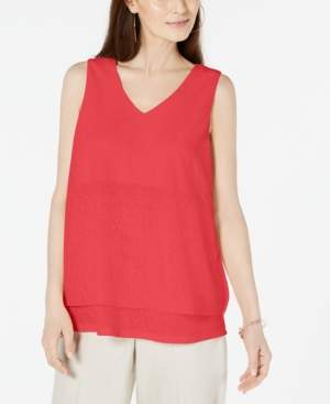 Alfani Petite Layered-Look V-Neck Top, Created For Macy's