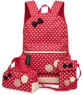 Greeniris Cute Girl Backpacks Women School Bag 3 Pieces Set