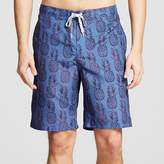 Merona Men's Pineapple Print Swim Trunks Navy