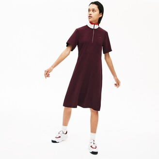 Lacoste Women's Flared Zip-Up Polo Dress