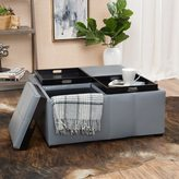 Christopher Knight Home Dartmouth Four Sectioned Faux Leather Cube Storage Ottoman