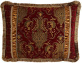 Horchow Austin Horn Classics King Scarlet Pieced Sham with Fringe