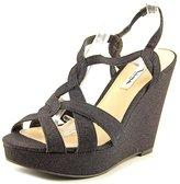 Nina Giada Women US 7.5 Black Wedge Sandal