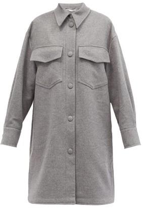 Stella McCartney Kerry Patch-pocket Wool Jacket - Light Grey
