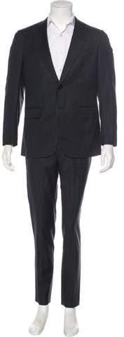 Isaia Aquaspider Wool Suit
