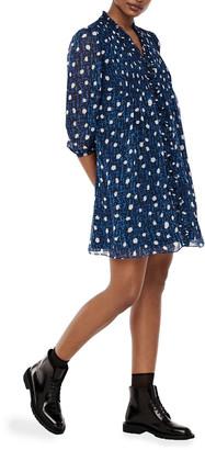 Diane von Furstenberg Layla Polka-Dot Mini Dress