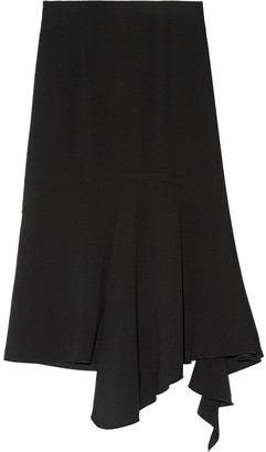 GOEN.J Asymmetric Ruffled Silk-crepe Skirt