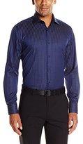Stone Rose Men's Melange Stripe Long-Sleeve Shirt
