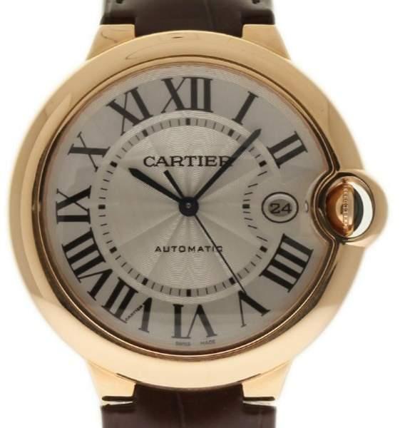 Cartier Ballon Bleu W6900651 42mm Rose Gold Leather Men's Watch