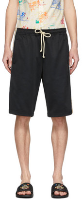 Gucci Black Technical Jersey GG Shorts