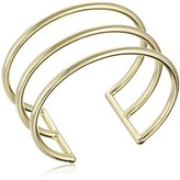 Kacey K Basic 14k Gold-Plated Triple-Cuff Bracelet