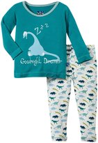 Kickee Pants Print Pajama Set (Baby) - Dino Print-12-18 Months