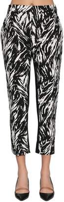 N°21 Animalier Print Cotton Cady Pants