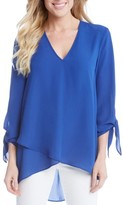 Karen Kane Women's Crossover Front Tie Sleeve Top