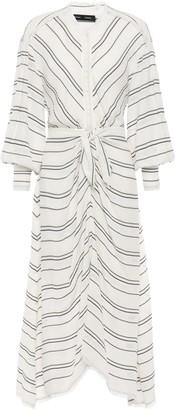 Proenza Schouler Striped Crepe Midi Dress