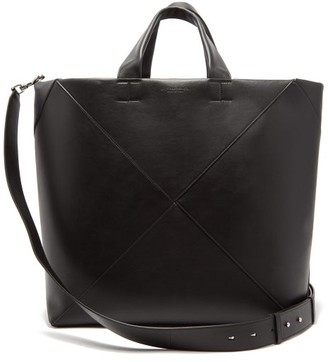 Bottega Veneta Intrecciato Panelled Leather Tote Bag - Black
