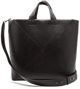 Bottega Veneta Intrecciato Panelled Leather Tote Bag - Mens - Black