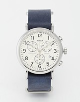 Timex Weekender Chronograph Military Strap Watch