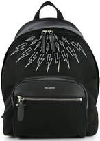 Neil Barrett lightning bolt classic backpack
